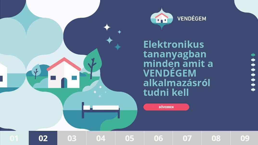 Elektronikus tananyag készült a VENDÉGEM alkalmazáshoz